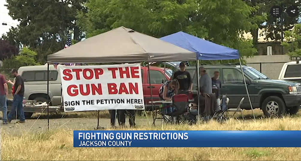Petitioners gather signatures against firearms restrictions – KTVL News 10